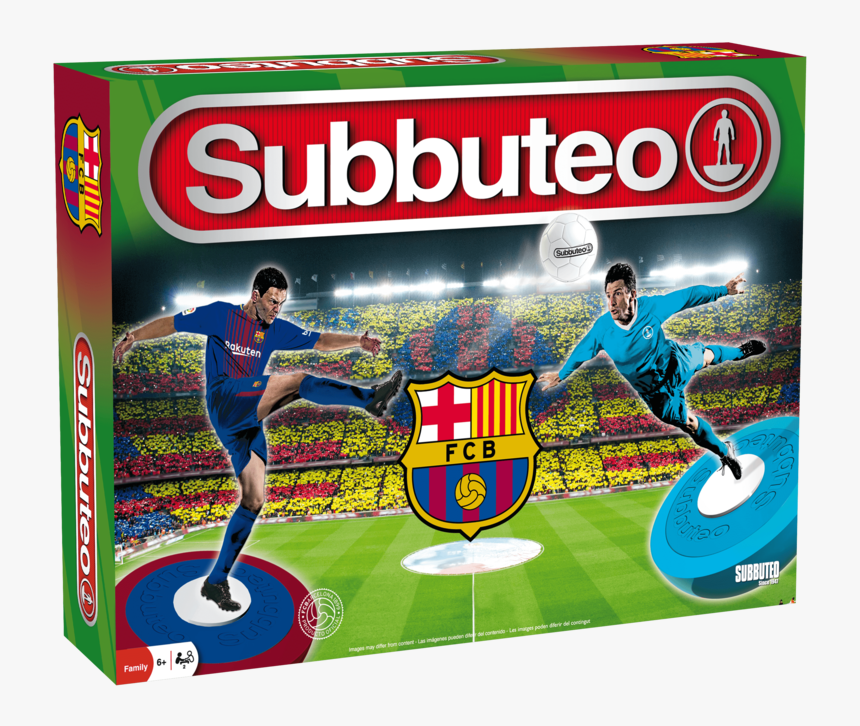 Juego Subbuteo Fc Barcelona Playset - Subbuteo Fc Barcelona, HD Png Download, Free Download