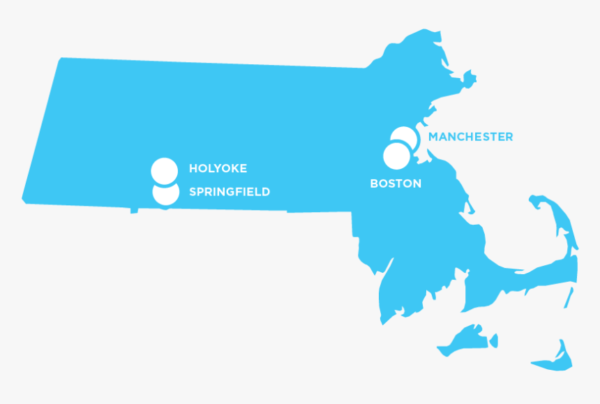 Solid Color Massachusetts Map, HD Png Download, Free Download
