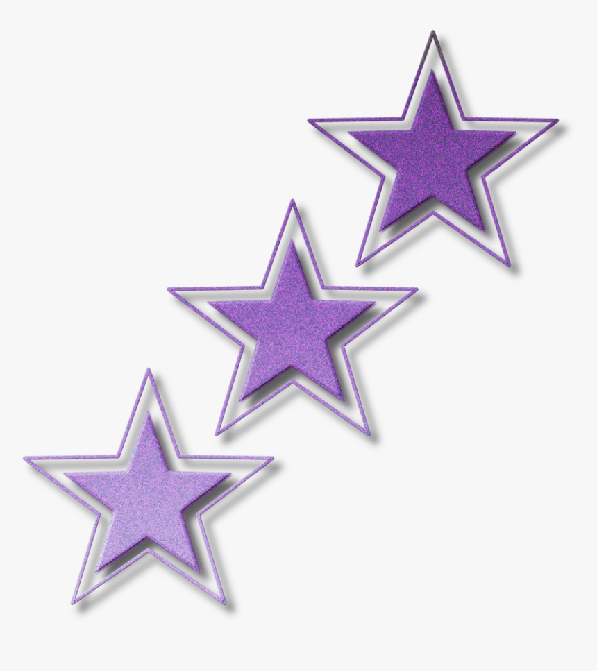 Purple Glitter Star Png, Transparent Png, Free Download