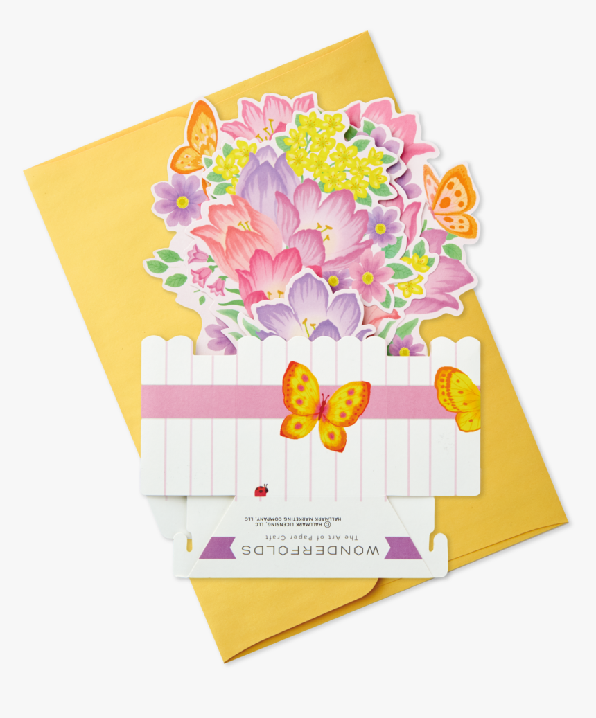 Springtime Flowers Pop Up Easter Card - Bouquet, HD Png Download, Free Download