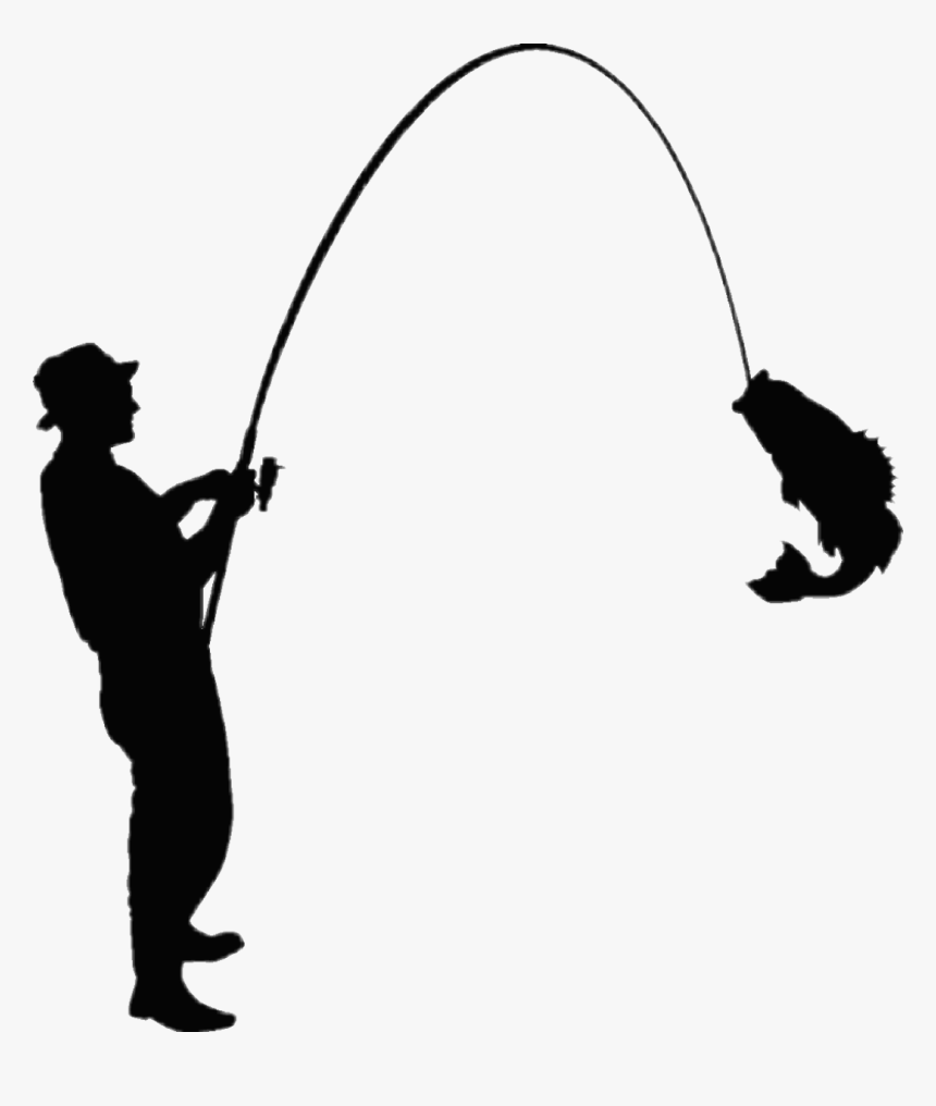 #fishing - Silhouette Fishing Vector, HD Png Download, Free Download