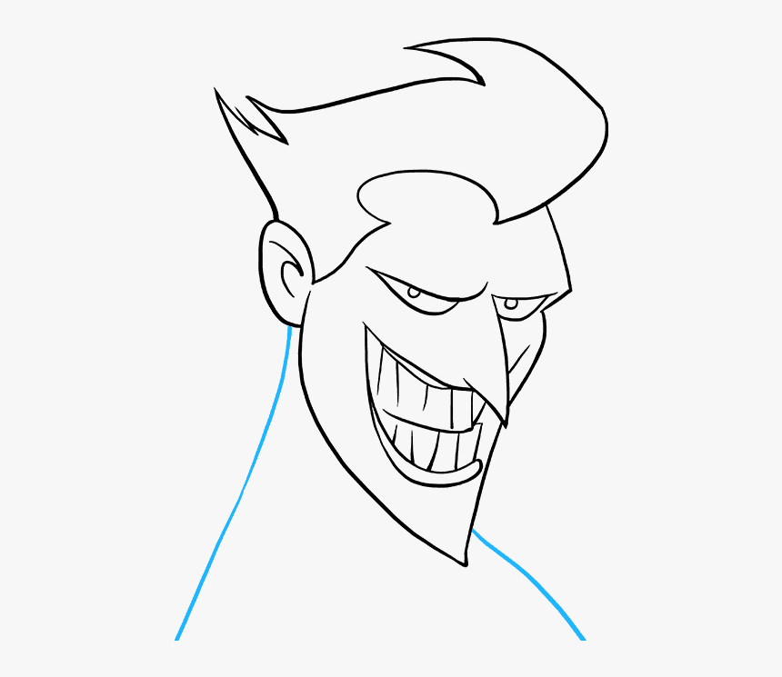 How To Draw The Joker Joker Face Drawing Easy Hd Png Download Kindpng