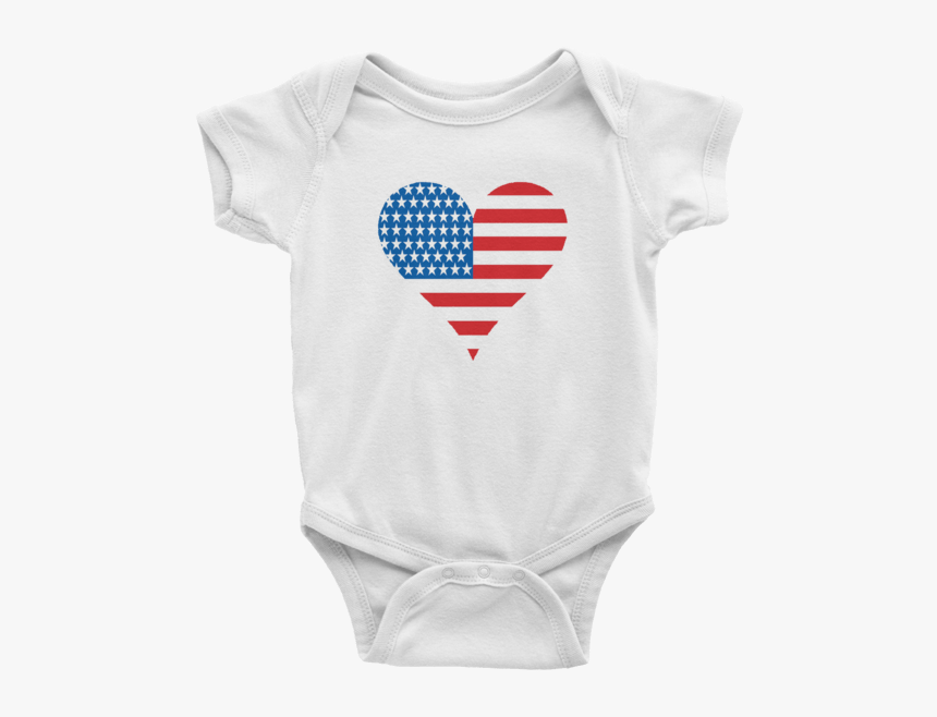 American Flag Onesie, Heart, Heart Flag, American Pride, - I D Rather Be With My Aunt Onesie, HD Png Download, Free Download