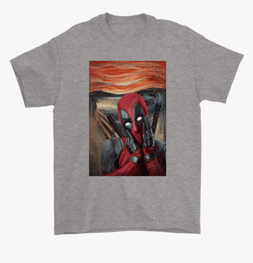 The Scream Painting Not Actually Screaming Deadpool - Toronto Maple Leaf Skull, HD Png Download, Free Download