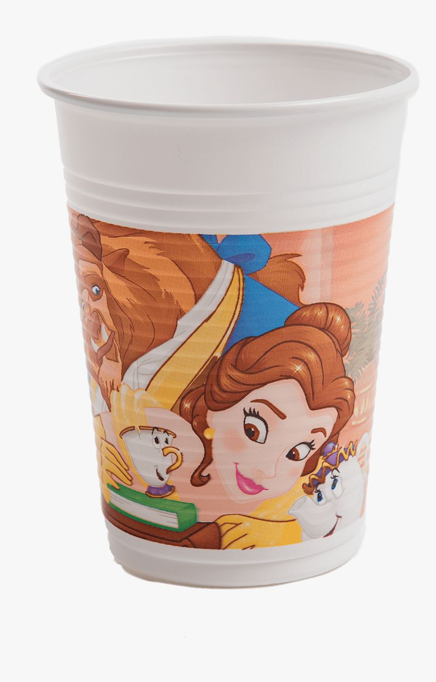 Beauty & The Beast Plastic Cups - Cartoon, HD Png Download, Free Download