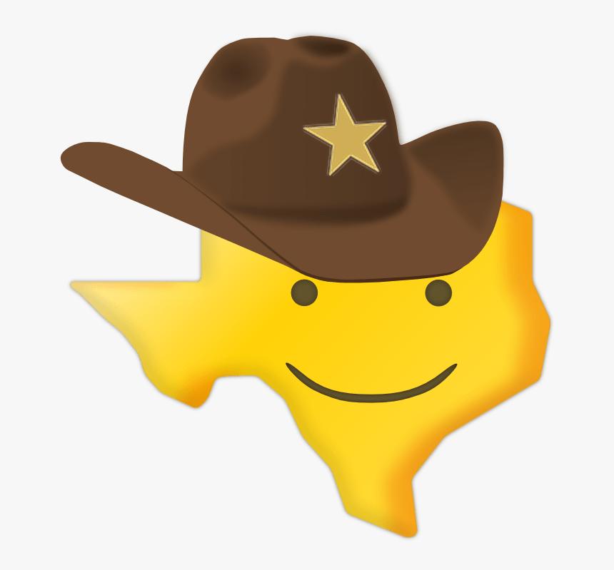 Texas Smiley Sticker - Blushing Cowboy Sad Cowboy Emoji, HD Png Download, Free Download