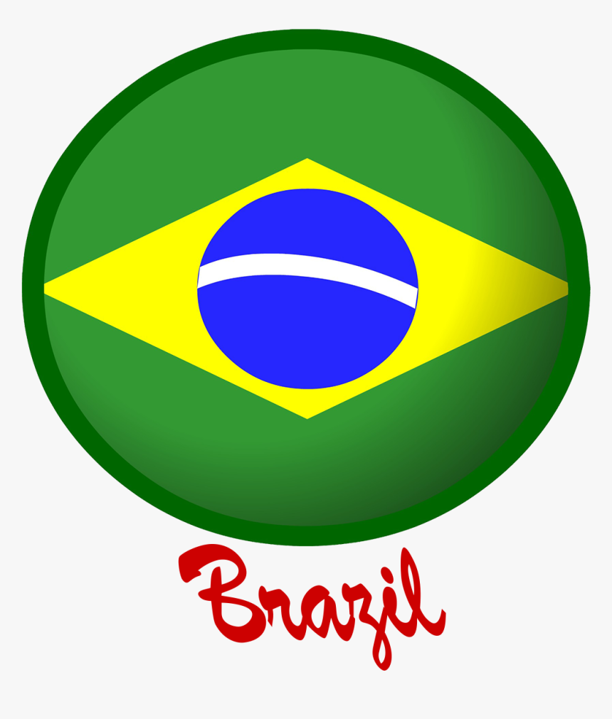 Brazil Flag Png Free Pic - Circle, Transparent Png, Free Download