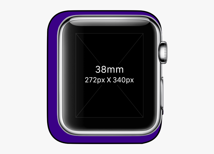 Overlayed-comparison - 38mm Apple Watch Actual Size, HD Png Download, Free Download