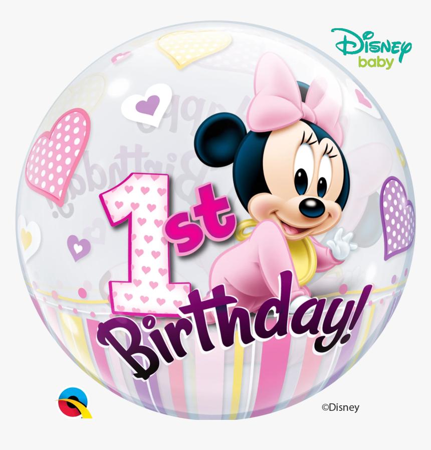 "1st Birthday Minnie Mouse Bubble Balloon""     Data - Happy Birthday 1 Minnie Mouse, HD Png Download, Free Download"