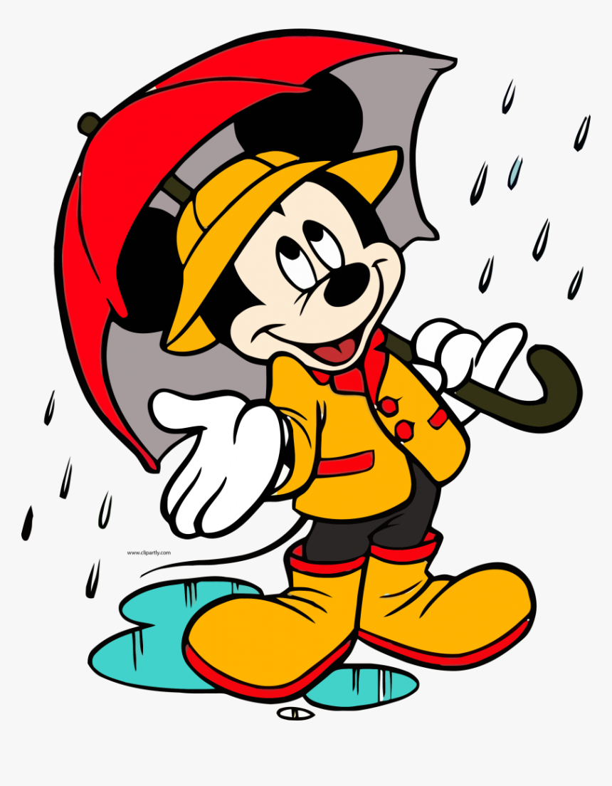 Big Mickey Mouse Cover Rain Weather Clipart Png - Related To Best Friend, Transparent Png, Free Download