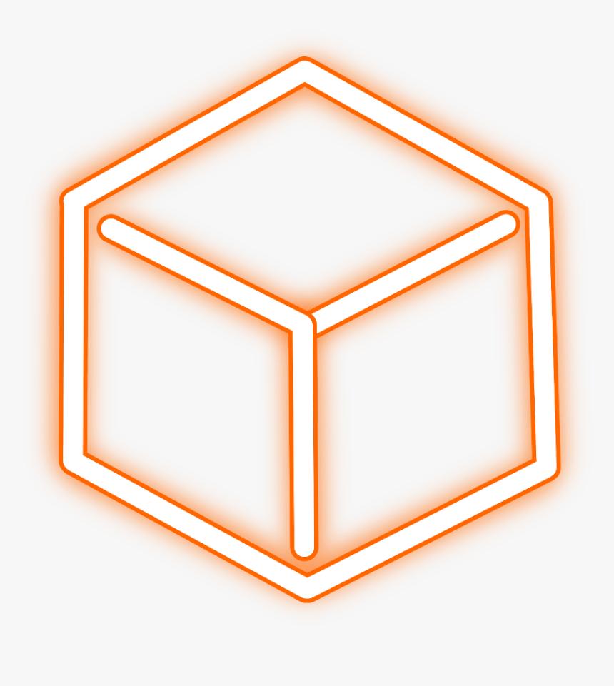 Transparent Orange Glow Png - Neon Cube Icon, Png Download, Free Download