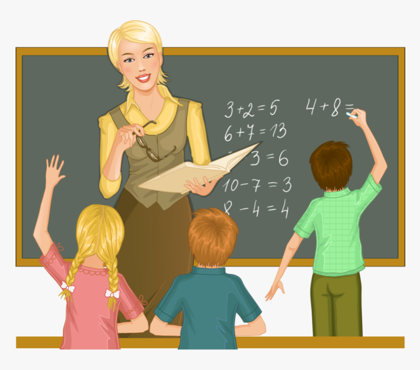 Teacher And Student Free Education Mathematics Classroom Teach Clipart Hd Png Download Kindpng