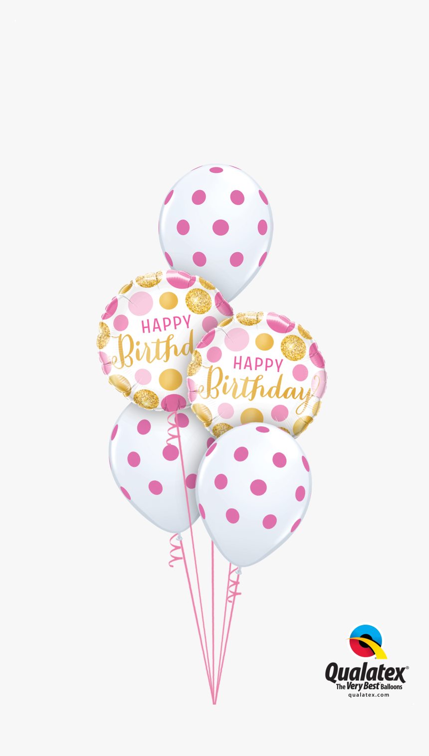 Pink Birthday Balloon Bouquet, HD Png Download, Free Download