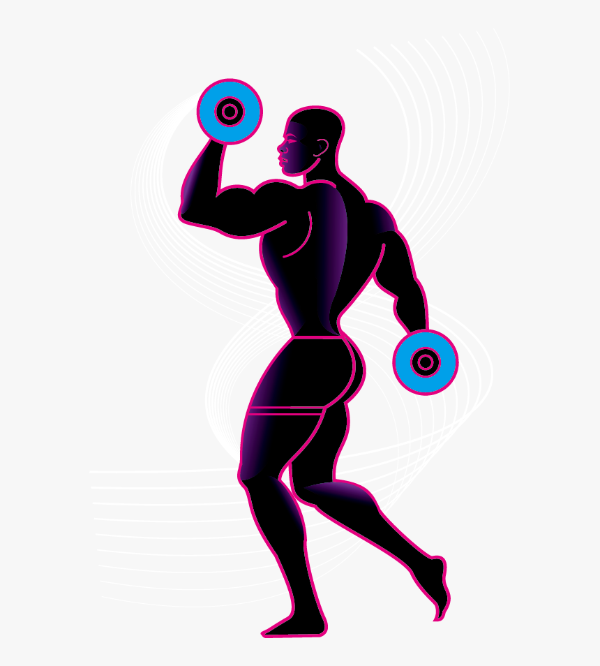 Transparent Weightlifting Clipart - Lifting Weights Clipart Silhouette, HD Png Download, Free Download