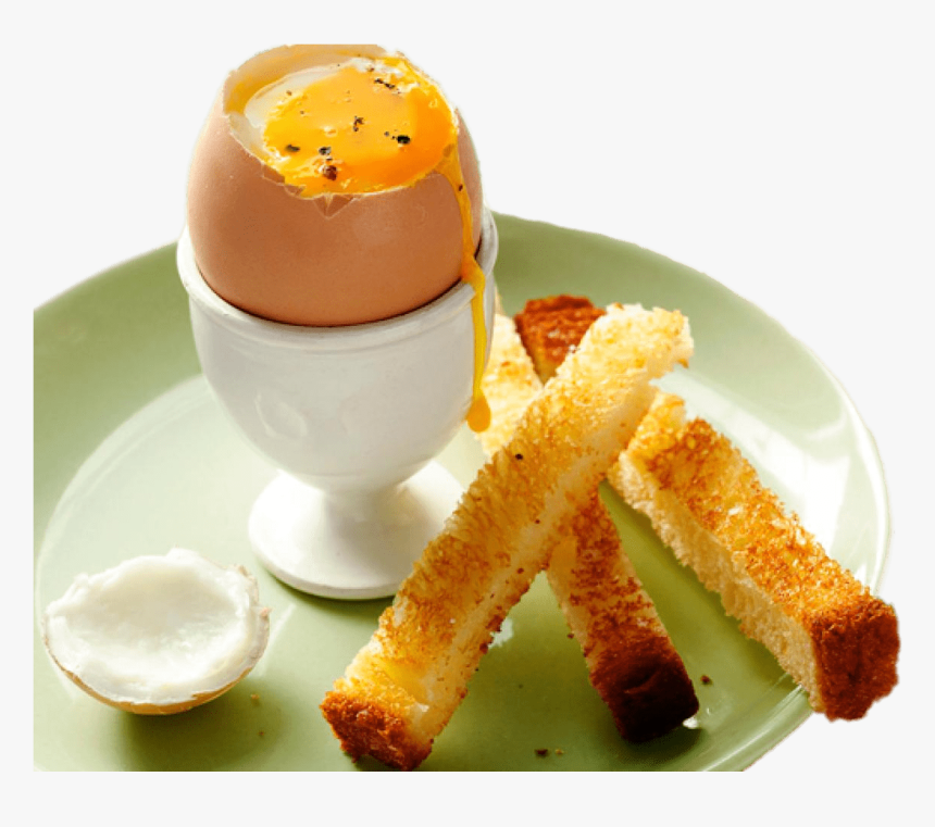 Soft Boiled Egg With Soldiers - Runny Eggs And Soldiers, HD Png Download, Free Download