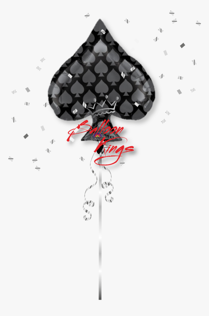 Casino Black Spade - Casino Balloon Transparent, HD Png Download, Free Download