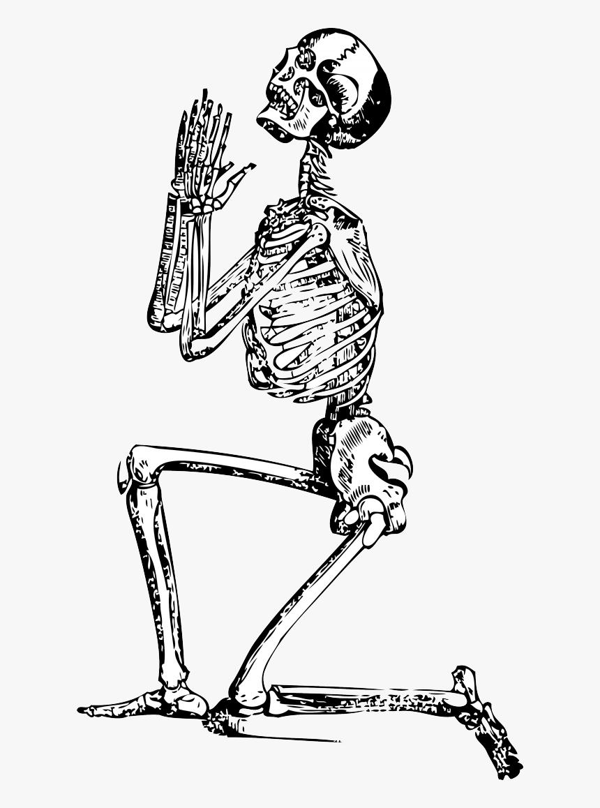 Transparent Dabbing Skeleton Png - Skeleton Praying Png, Png Download, Free Download