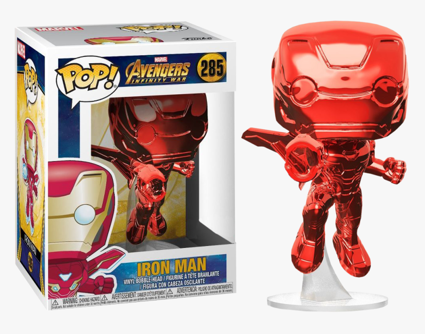 Infinity War - Red Chrome Iron Man Funko Pop, HD Png Download, Free Download