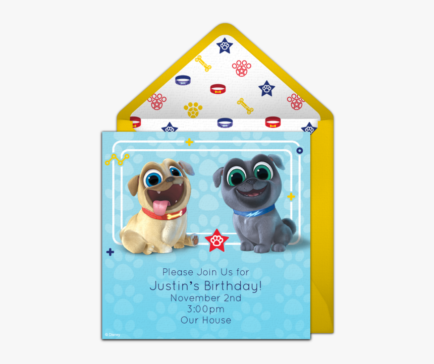 Puppy Dog Pals Birthday Invitations, HD Png Download, Free Download