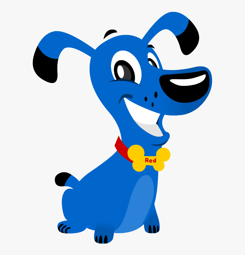 Thank You Blue Cartoon Dog Hd Png Download Kindpng