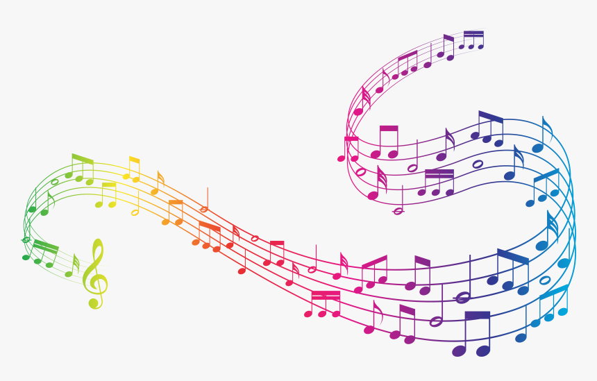 Colorful Music Notes Clipart Music Notes Transparent Background Hd Png Download Kindpng