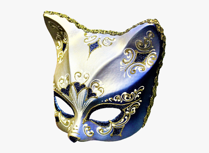 Mask, Cat, Carnival, Venice, Artifact, Artwork, Art - Carnival Mask Cat, HD Png Download, Free Download