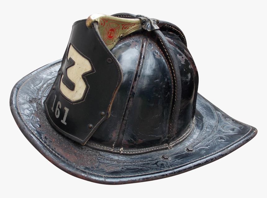 Transparent Fire Helmet Png - Old Leather Fire Helmet, Png Download, Free Download