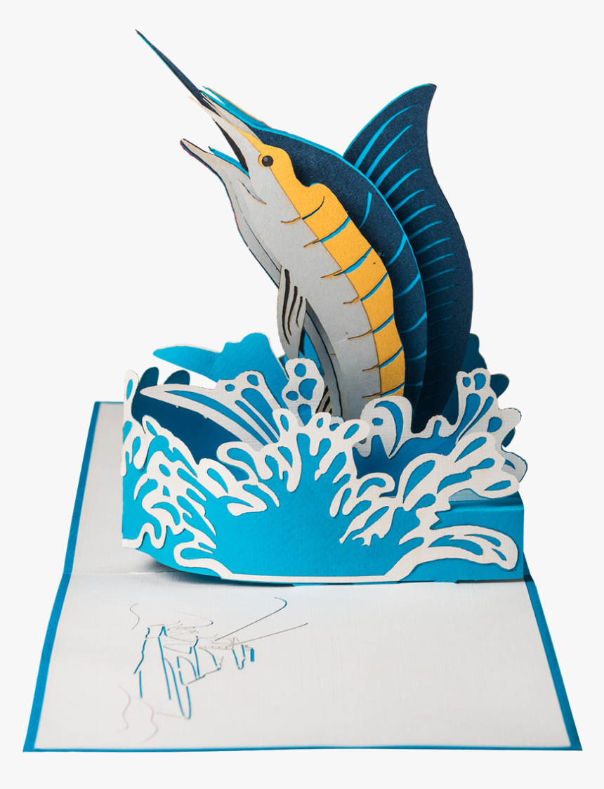 Marlin Pop-up Card - Pop Up Fish, HD Png Download, Free Download