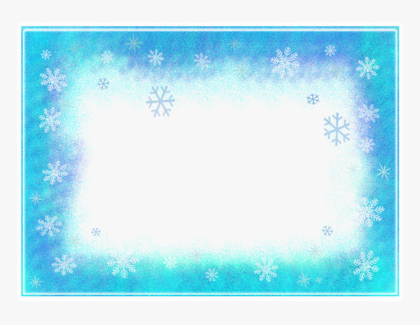 Frame, Winter, Flakes, Snow, Icing, Frozen, Ice - Png Transparent Background Snowflakes Frozen Png, Png Download, Free Download