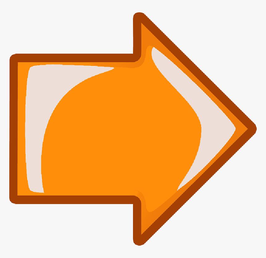 Computer, Icon, Left, Right, Arrow, Cartoon, Orange - Seta Para Escrever Dentro, HD Png Download, Free Download
