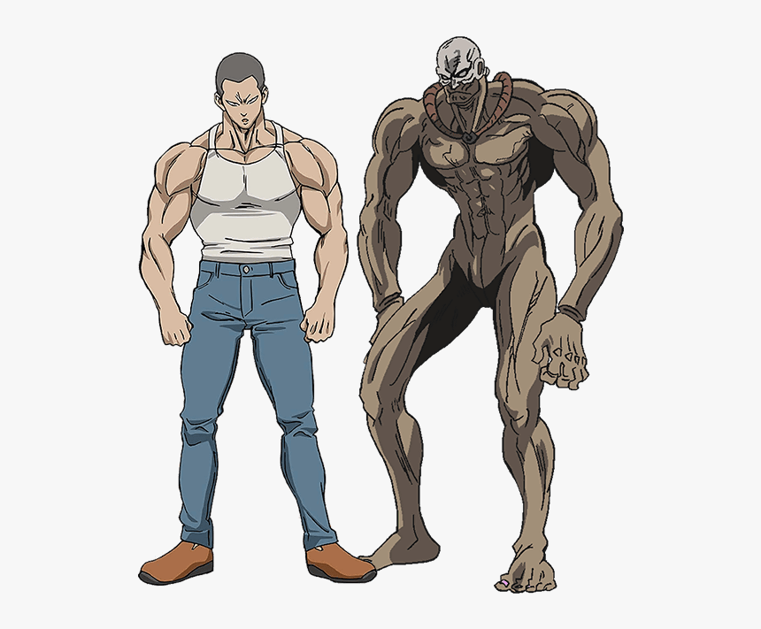 One Punch Man Characters Fukegao And Marugori One Punch Man Concept Art Hd Png Download Kindpng
