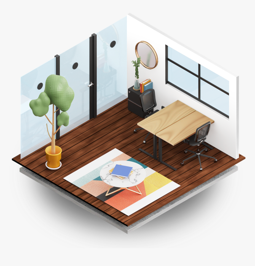 Standard Private Office Showcase - Coffee Table, HD Png Download, Free Download