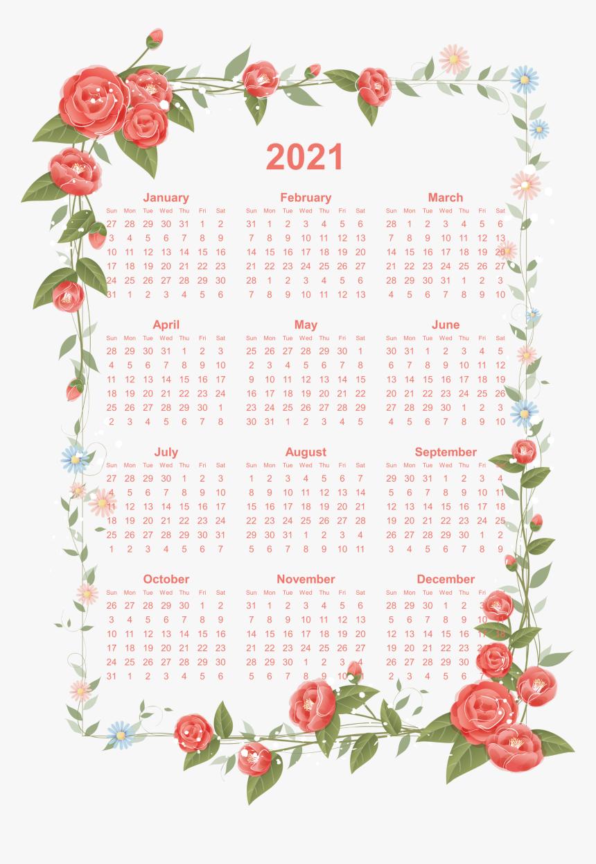 2021 Calendar Transparent Background - 2019 Calendar ...