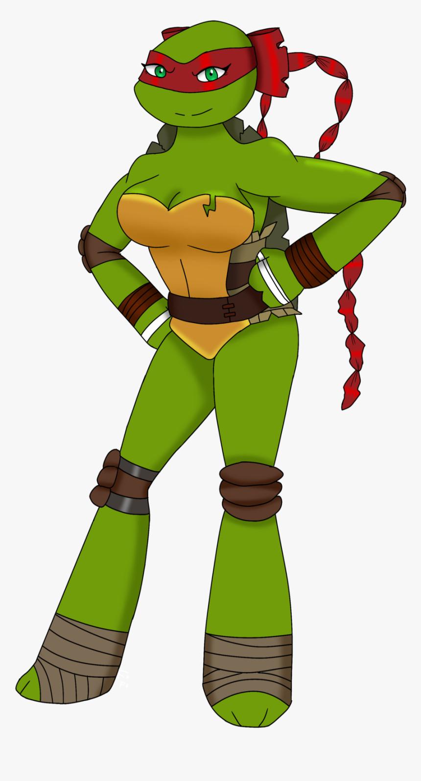 Image Ninja Turtle Raphael Female Hd Png Download Kindpng