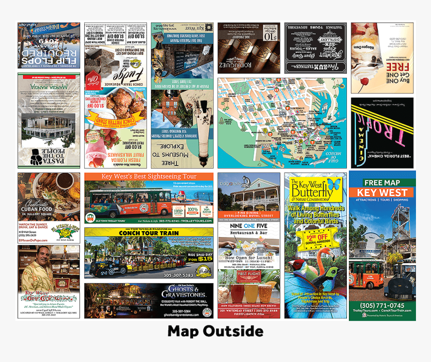 Picture Of Key West Free Map Brochure Outside - Online Advertising, HD Png Download, Free Download