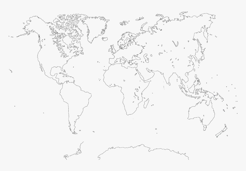 Large Size World Mapquality - Map, HD Png Download, Free Download