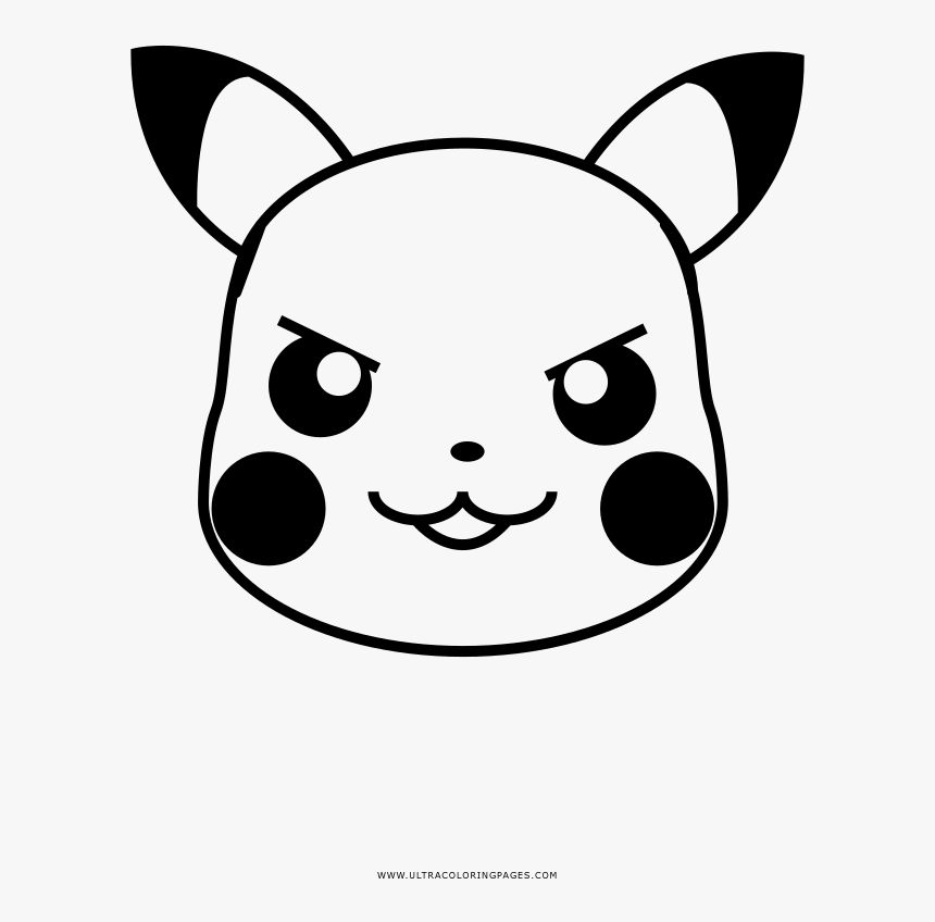 Eager Pikachu Coloring Page - Cartoon, HD Png Download, Free Download