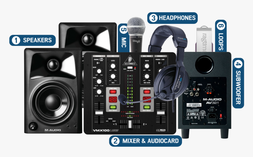 Home Studio Con Laptop, HD Png Download, Free Download