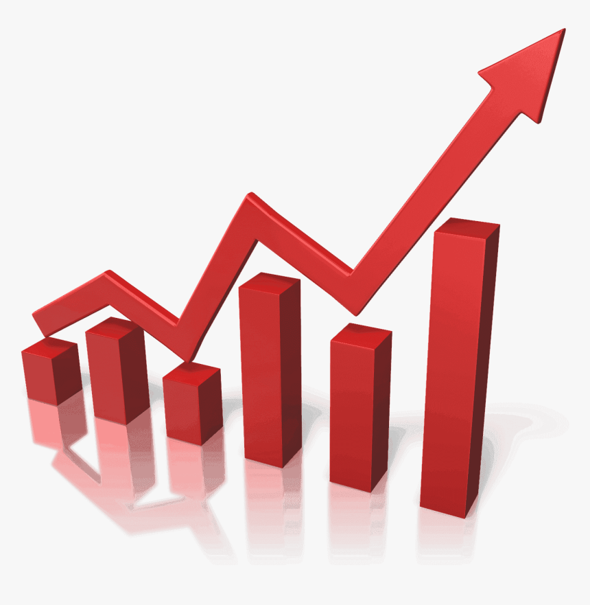 Arrow On Graph Gif , Png Download - Increase Market Share Png, Transparent Png, Free Download