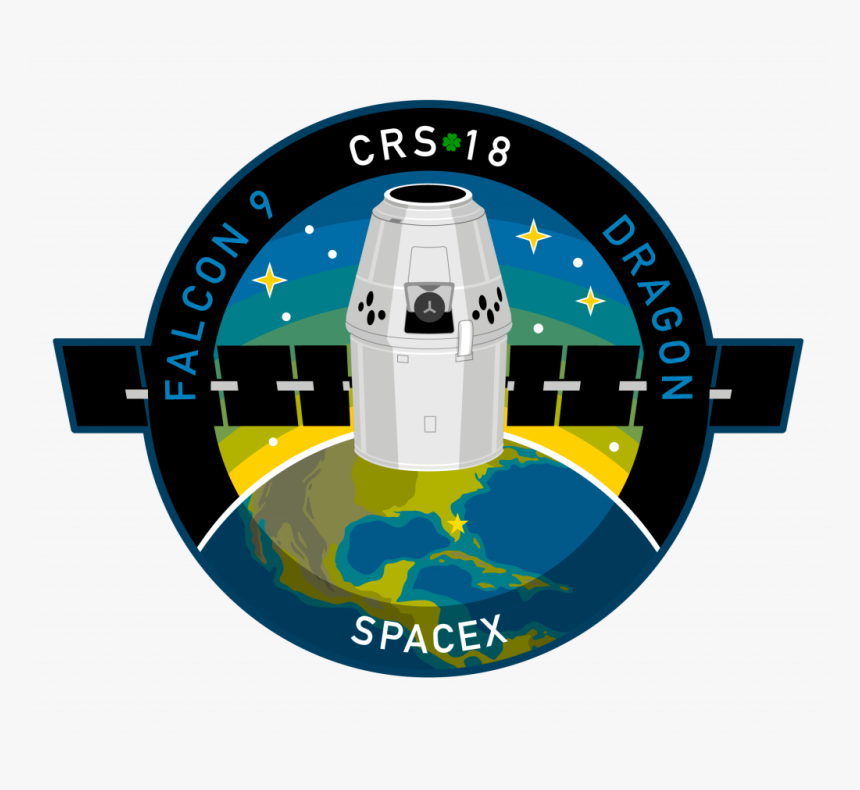 Spacex Crs 18 Patch, HD Png Download, Free Download