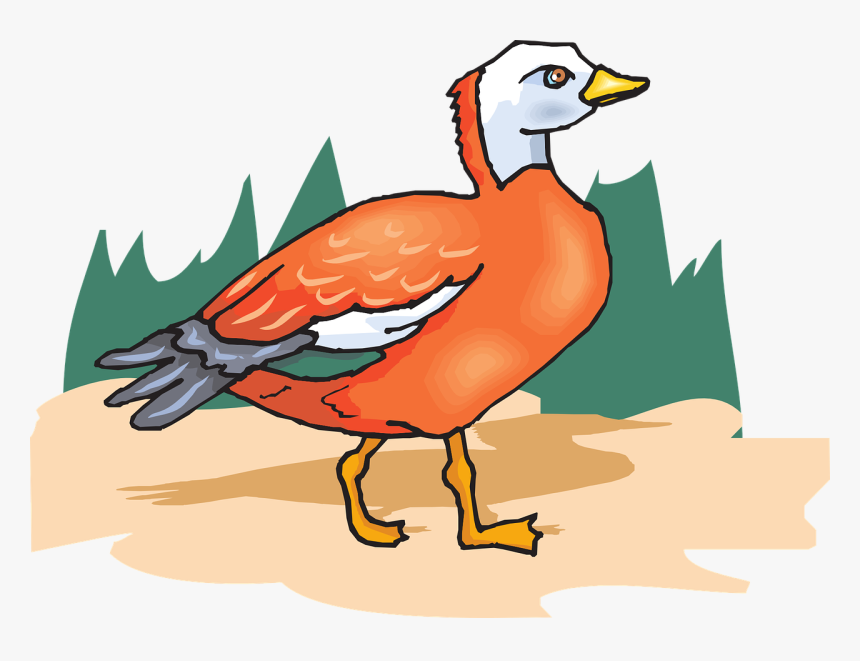 Tree Orange Bird Wings Standing Png Image - Portable Network Graphics, Transparent Png, Free Download