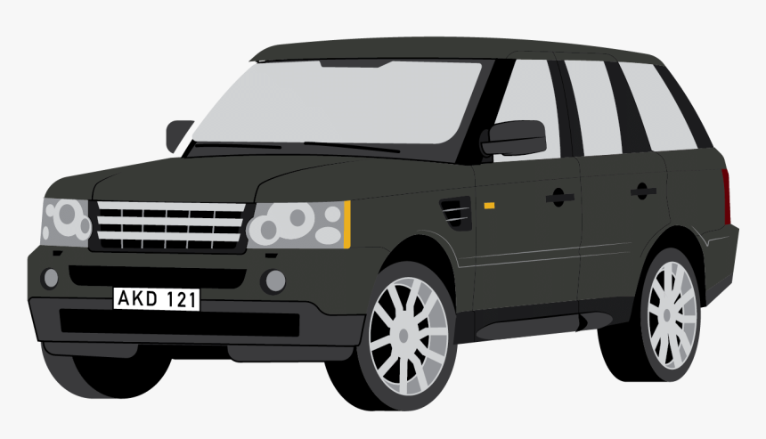 Land Rover Clipart Black And White - Range Rover Clipart, HD Png Download, Free Download