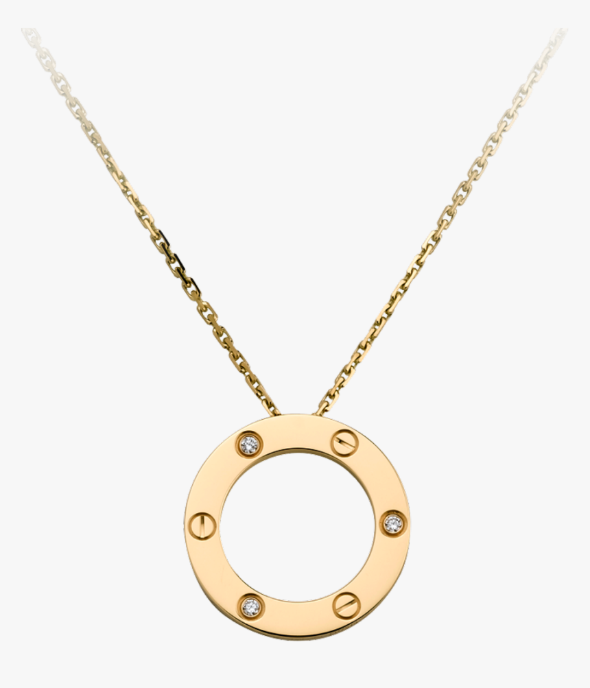 Cartier Love Necklace White Gold Diamonds, HD Png Download, Free Download