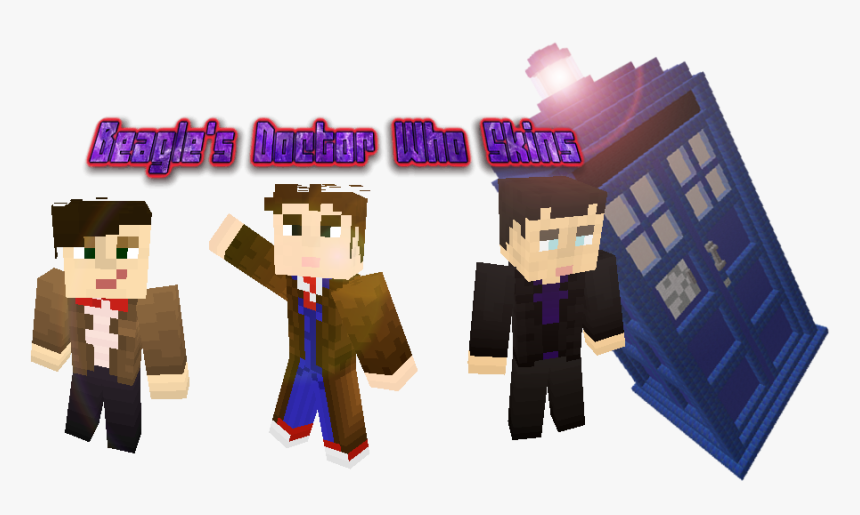 9th Doctor Minecraft Skin, HD Png Download, Free Download