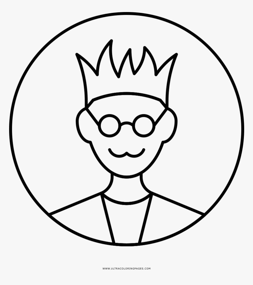 Geek Coloring Page - Line Art, HD Png Download, Free Download