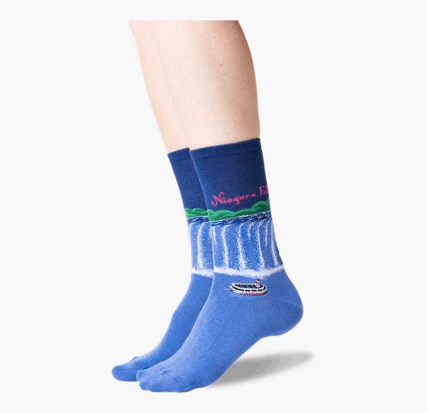 "Women""s Niagara Falls Crew Socks In Dark Blue Front""  - Hockey Sock, HD Png Download, Free Download"