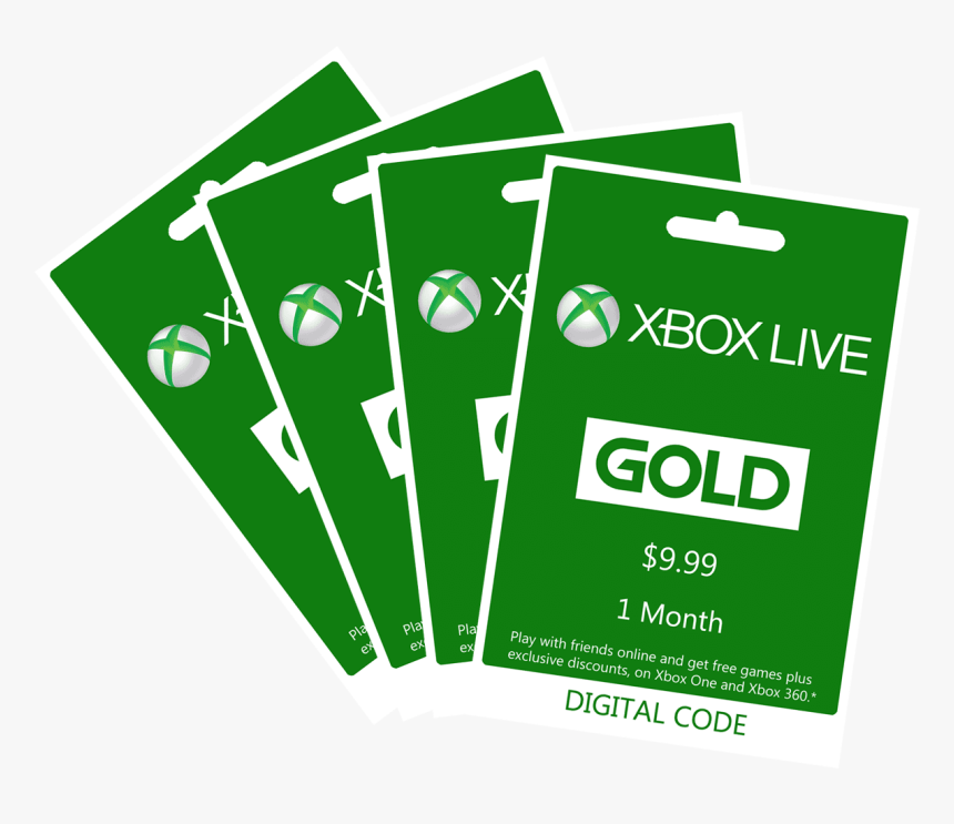 Xbox Live Gold Codes - Xbox 360, HD Png Download - kindpng