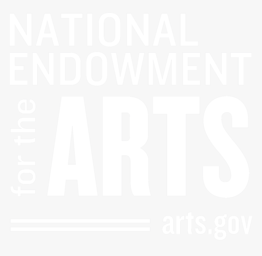 2018 Logobw Square White On Black Opt2 - National Endowment For The Arts, HD Png Download, Free Download