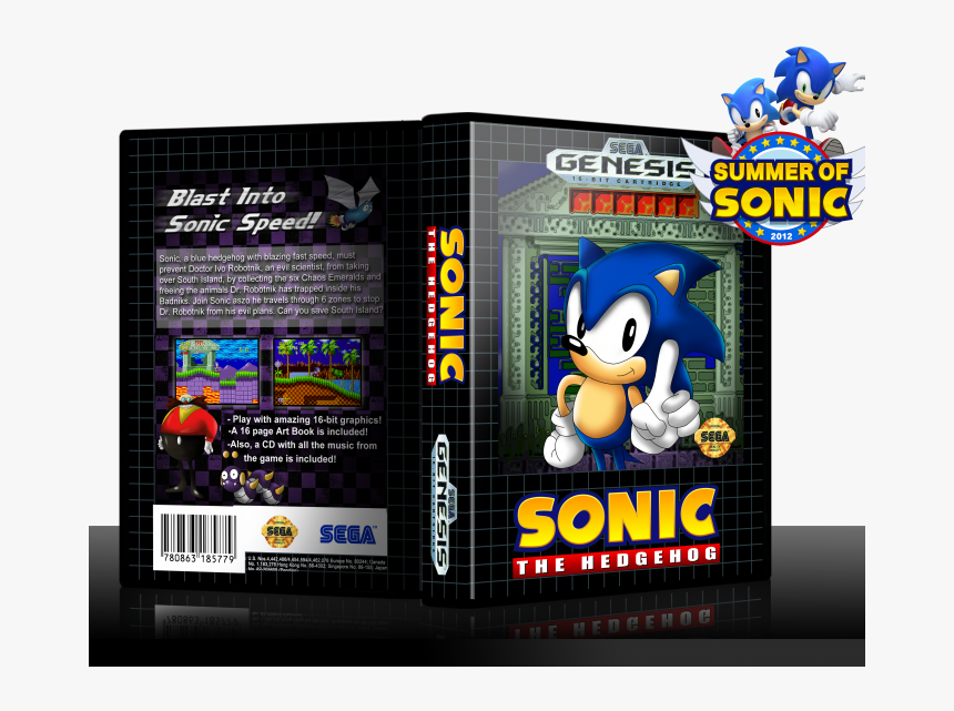 Sonic The Hedgehog Box Art Cover Summer Of Sonic Hd Png Download Kindpng