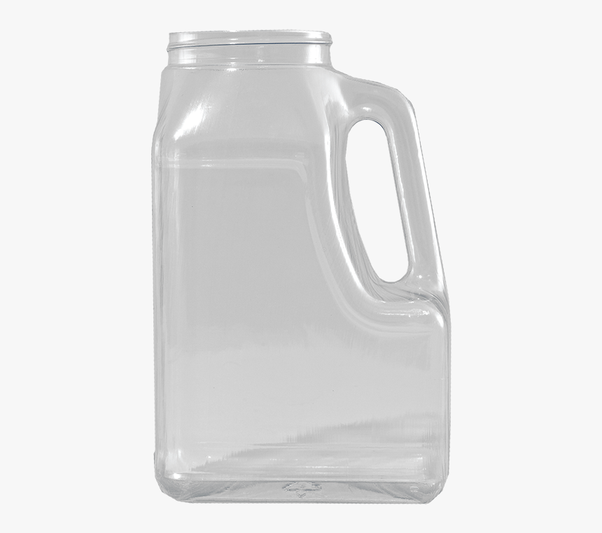 Clear Food Grade Pvc Plastic Slant Handle Container, - Glass Bottle, HD Png Download, Free Download